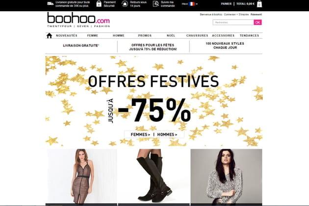 Le e-shop de Boohoo