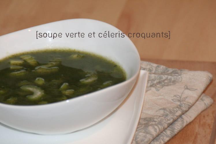 Soupe verte aux blettes et aux poireaux
