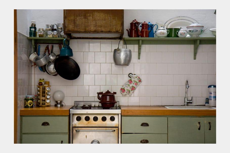 Cuisine vert amande et blanc : Cuisine bicolore : les ...