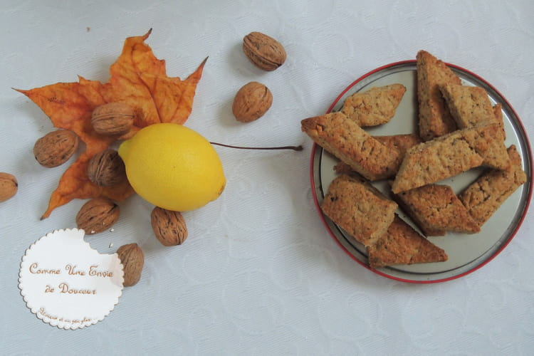 Canistrelli : biscuits croquants aux noix, citron & orange