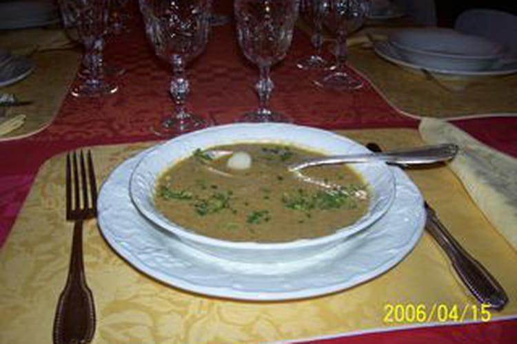 Bisque de moules aux Saint-Jacques