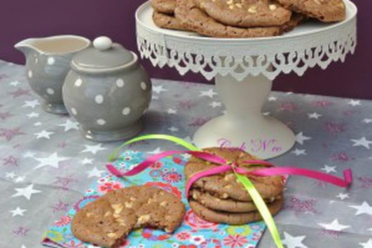 Cookies au Nutella, pépites de chocolat blanc