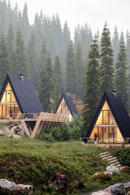 Maison en A: construction, prix, intérieur... zoom sur une architecture qui a soif de nature!