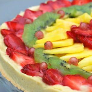tarte aux fruits et au chocolat blanc