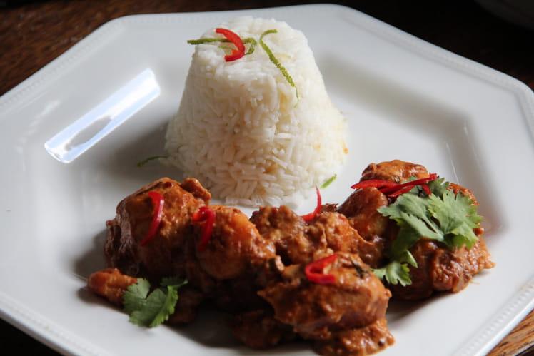 Curry aux crevettes et au poulet