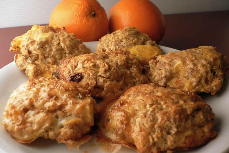 Gros cookies santé orange-muesli