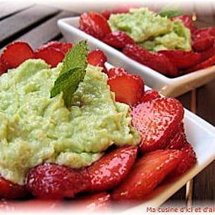 crème d'avocat aux fraises