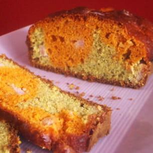 cake marbré à la tomate et au pesto