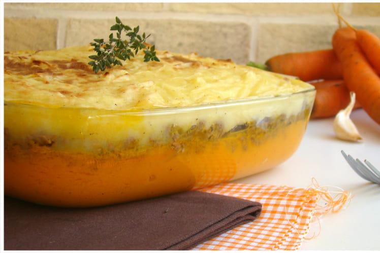 Hachis parmentier de pommes de terre et carottes primeur