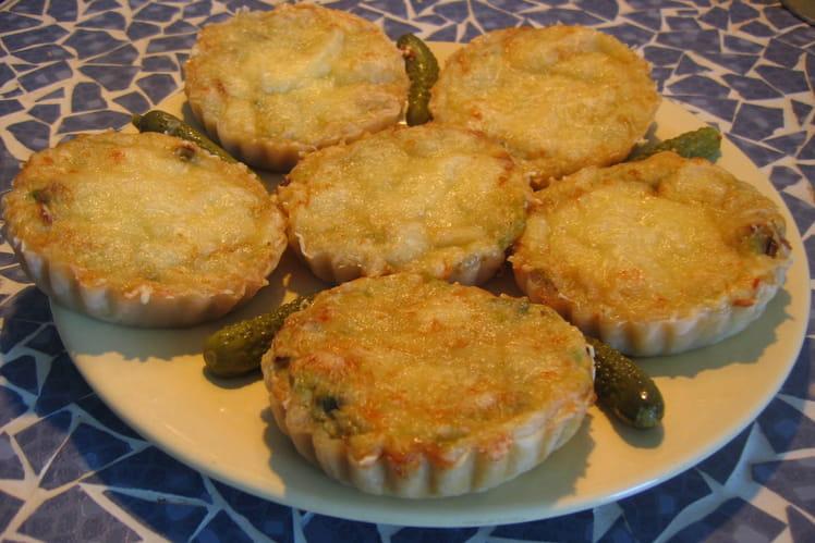 Tartelettes poireaux, oignons, lardons
