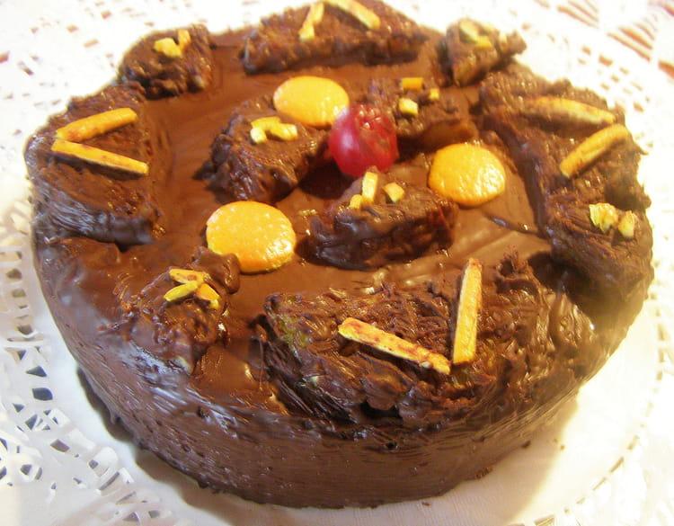 Recette de Gâteau sans farine aux amandes glacé au chocolat