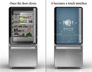 un concept de réfrigérateur, fonctionnel et qui fait gagner du temps