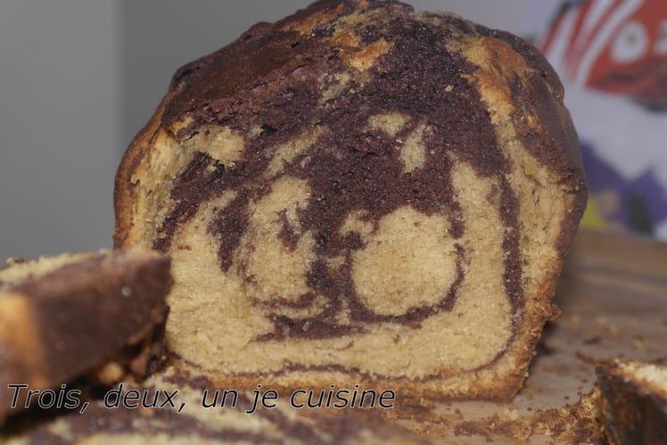 Cake marbré chocolat et spéculoos