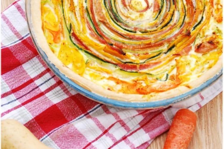 Tarte soleil aux légumes