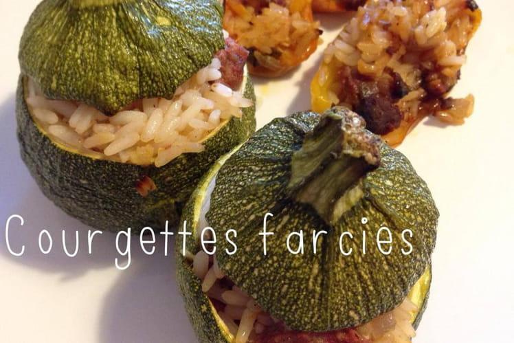 Courgettes et mini poivrons farcis à l'orientale