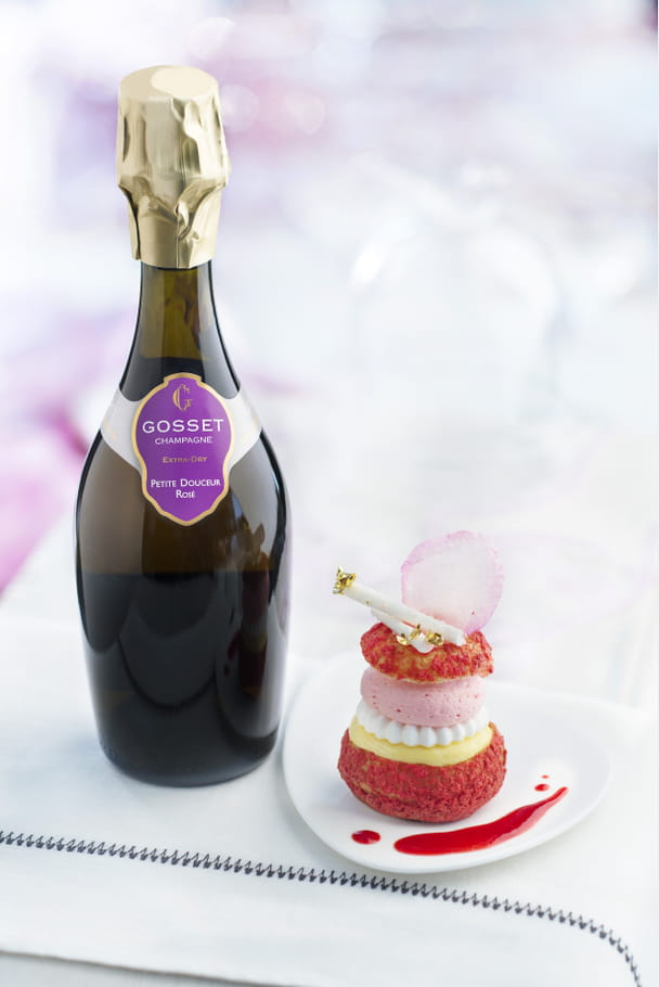 Duo Champagne-Profiterole de Champagne Gosset x Profiterole Chérie
