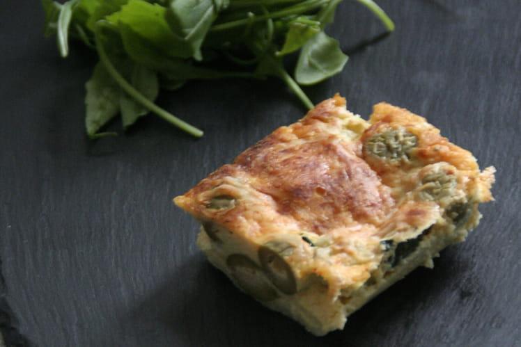 Clafoutis Courgettes et Olives