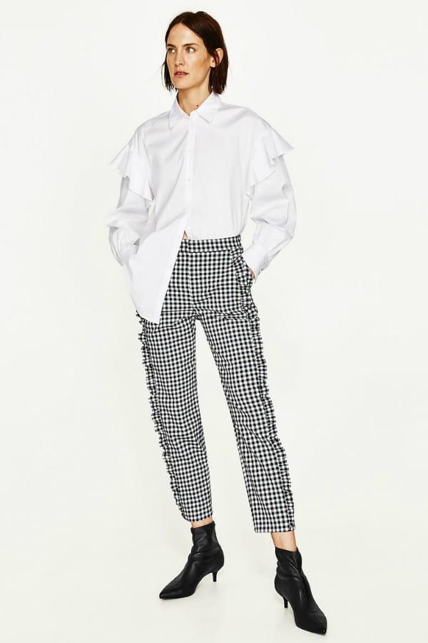 order online cheap for sale various design Pantalon Vichy de Zara