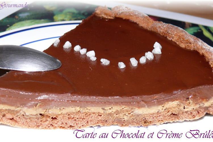 Tarte au chocolat et crème brûlée au café