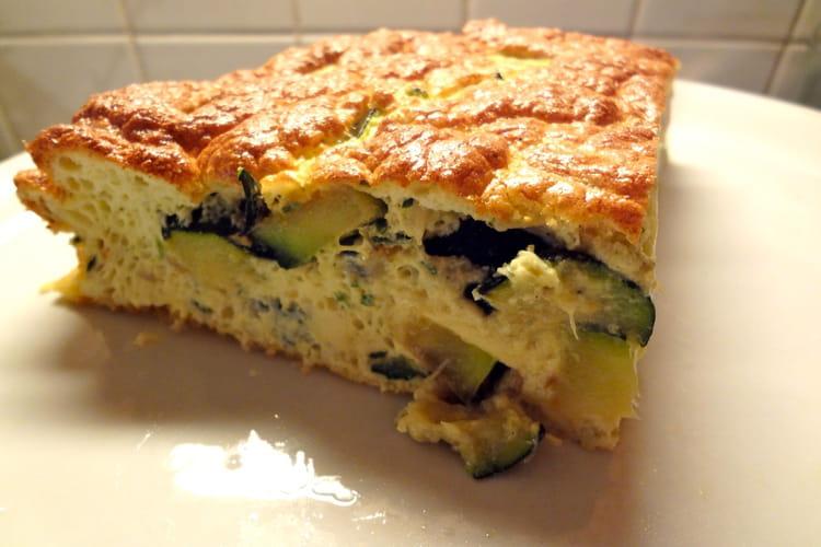 Omelette soufflée aux courgettes