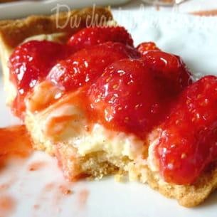 tarte vanille-fraises