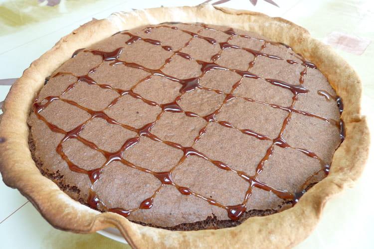 Tarte chocolat-caramel