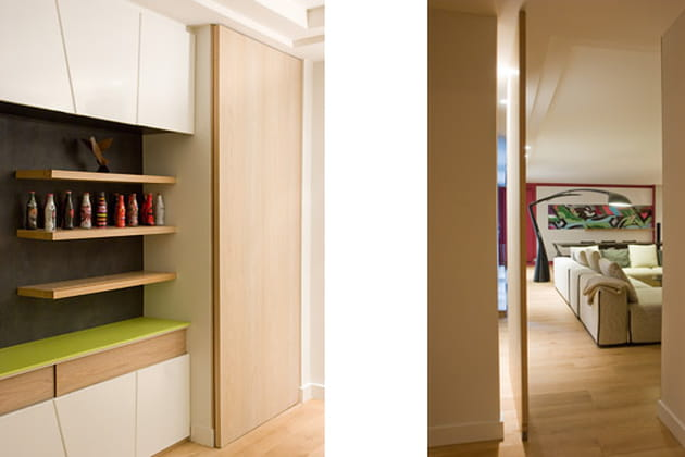 une porte originale. Black Bedroom Furniture Sets. Home Design Ideas