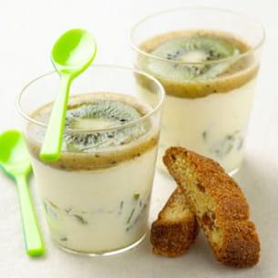 mousse de kiwi de l'adour au chocolat blanc