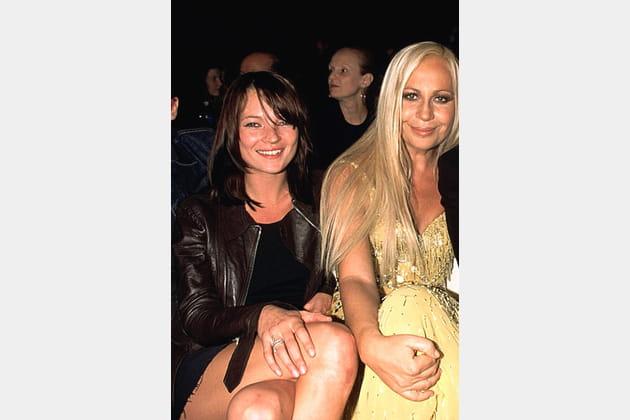 Kate Moss et Donatella Versace le 5décembre 1999