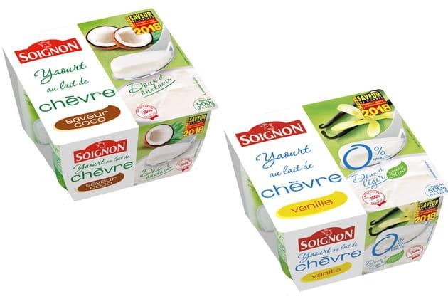 Les yaourts au chèvre de Soignon