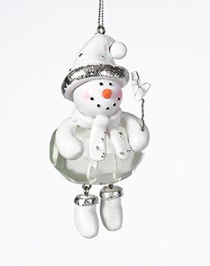 pendentif 'bonhomme de neige' de carrefour