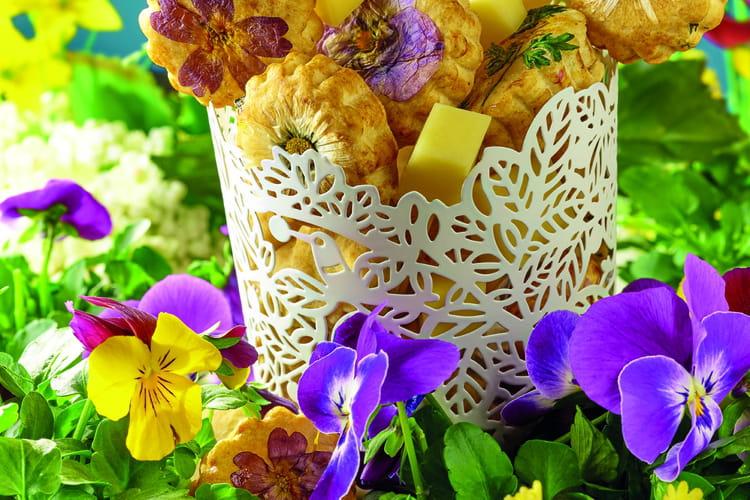 Sablés Beaufort aux fleurs