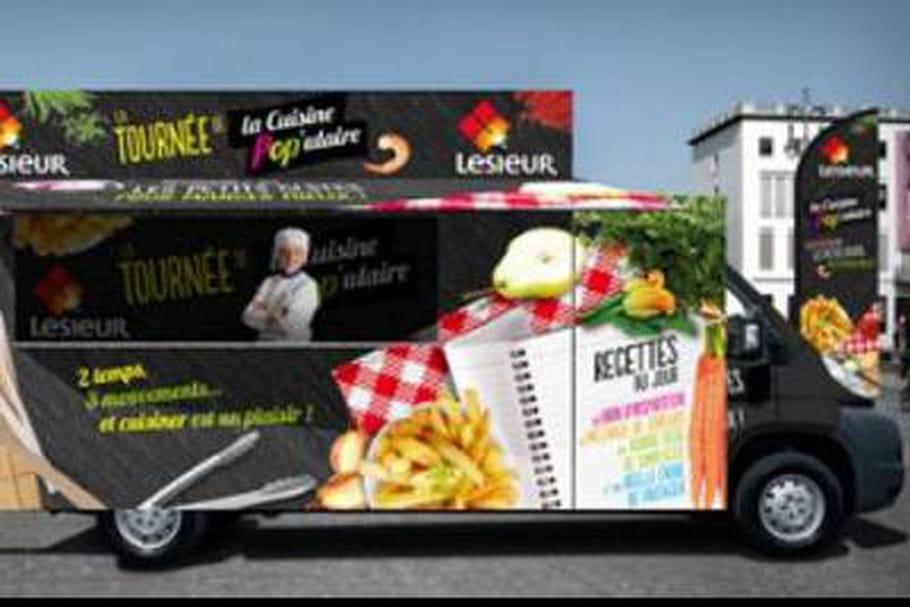 24 heures du Vélib' : Lesieur à bord du camion de la Cuisine POP'ulaire