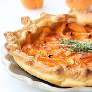 tarte abricot et romarin