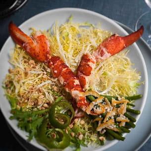 salade craquante de homard et écorce de yuzzu