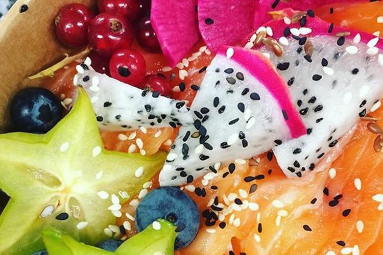 Poké Bowl fruits exotiques & Saumon