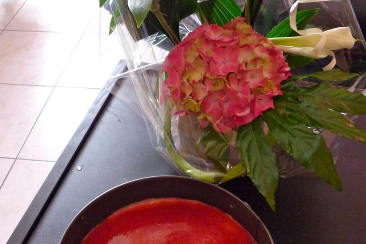 Cheesecake rhubarbe-fraise