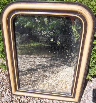 le miroir de face, avant