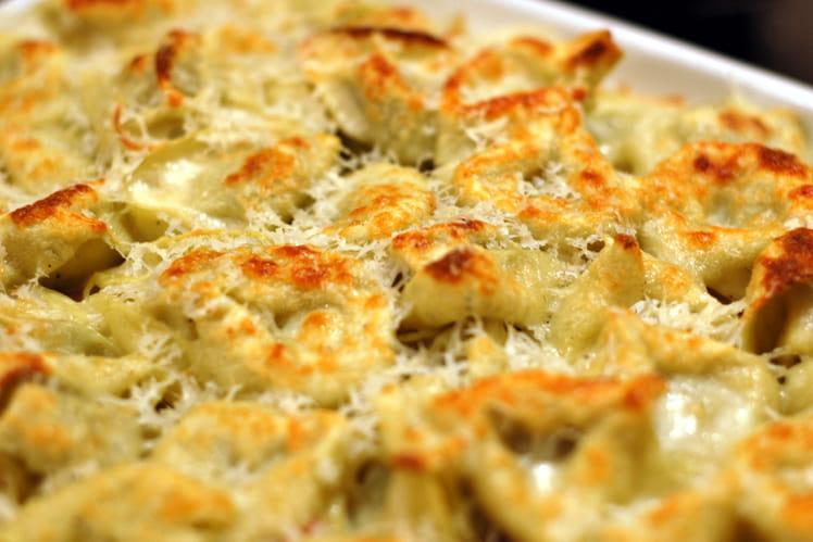 Tortellini courgettes boursin