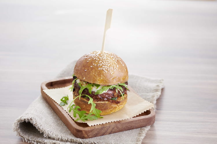 Burger veggie en 4 ingrédients