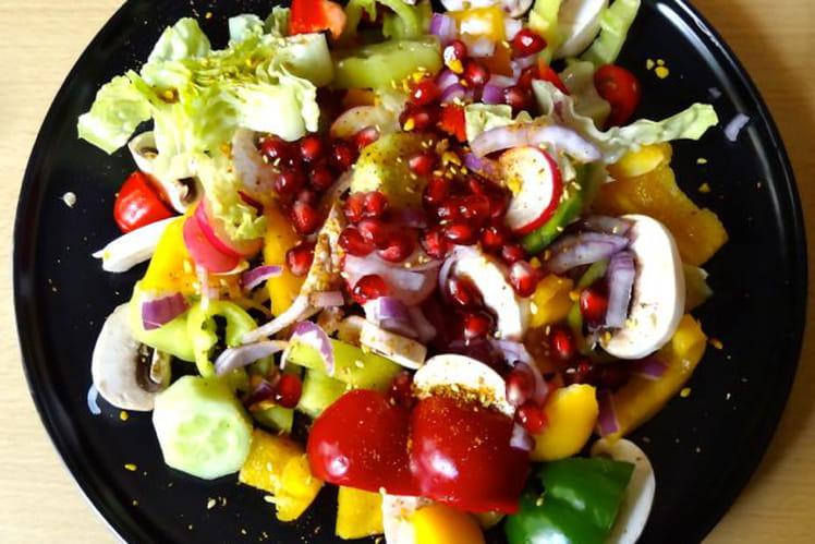Salade fraîcheur au dukkah