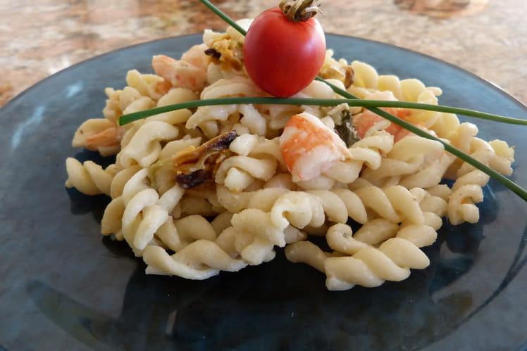 Recette de p tes aux fruits de mer la recette facile - Pates aux fruits de mer recette italienne ...