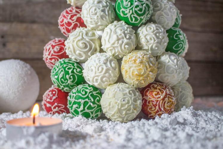 Arbre de Noël en cake pops