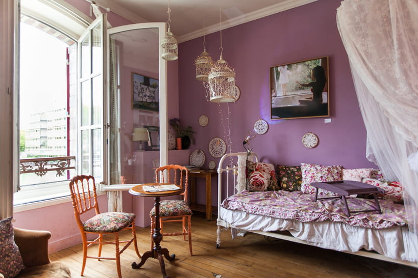 les couleurs mauve et parme en d co. Black Bedroom Furniture Sets. Home Design Ideas