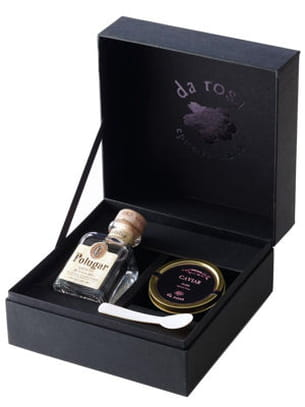 coffret caviar-vodka da rosa