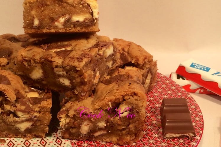 Cookies carrés aux Kinder