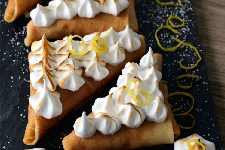 Crêpes en samossa façon tarte au citron meringuée