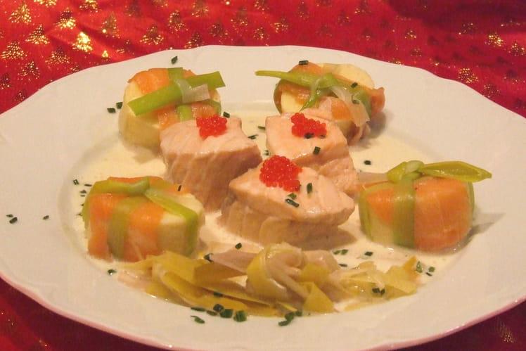 Pochouse de saumon au crémant de Bourgogne