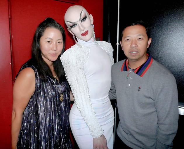 Carol Lim, Sasha Velour et Humberto Leon au défilé Opening Ceremony