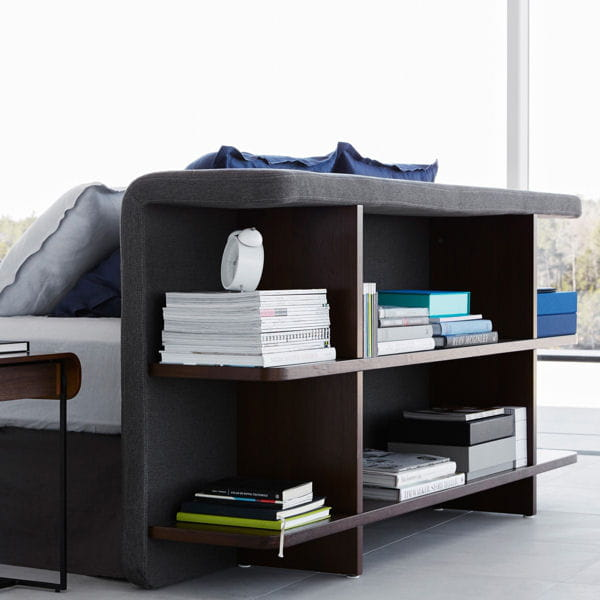 une t te de lit biblioth que l gante. Black Bedroom Furniture Sets. Home Design Ideas